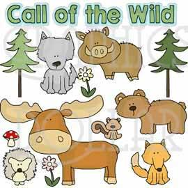 Animals Call of the Wild Clip Art